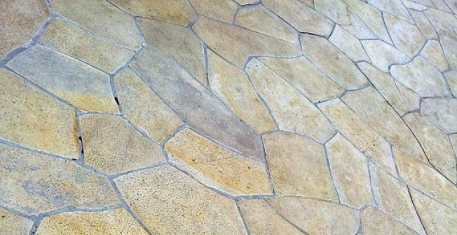 Concrete Flag Paving in Aberdare/Aberdar